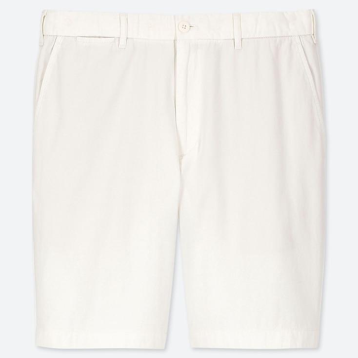 MEN CHINO SHORTS, WHITE, large
