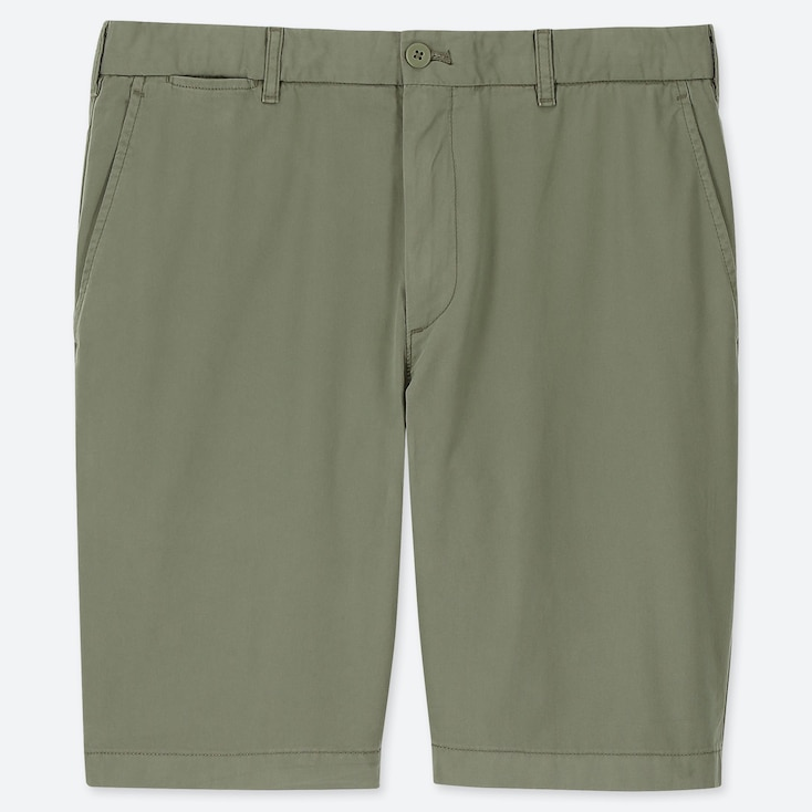 MEN CHINO SHORTS, OLIVE, large