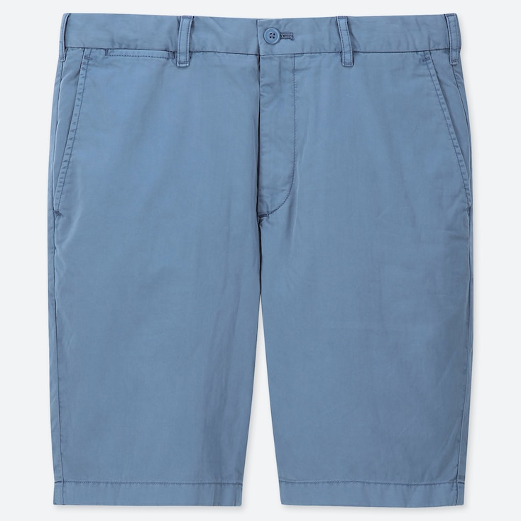 MEN CHINO SHORTS, BLUE, large
