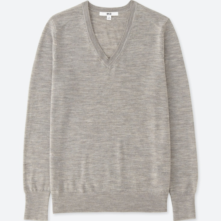 7477fc5e6666 WOMEN EXTRA FINE MERINO V NECK JUMPER | UNIQLO