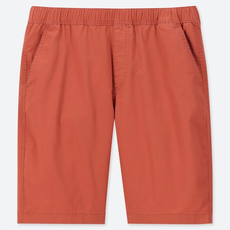 Men Dry Stretch Easy Shorts, Orange, Large