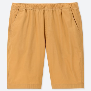 Men Dry Stretch Easy Shorts, Yellow, Medium