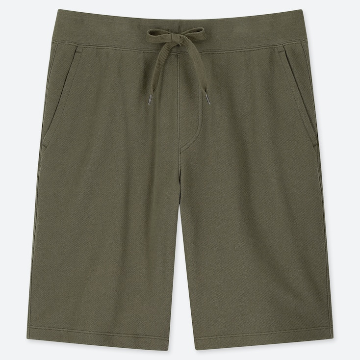 MEN JERSEY EASY SHORTS, OLIVE, large