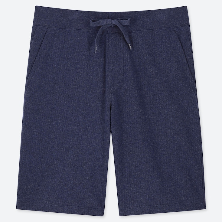 Men Jersey Easy Shorts, Blue, Large