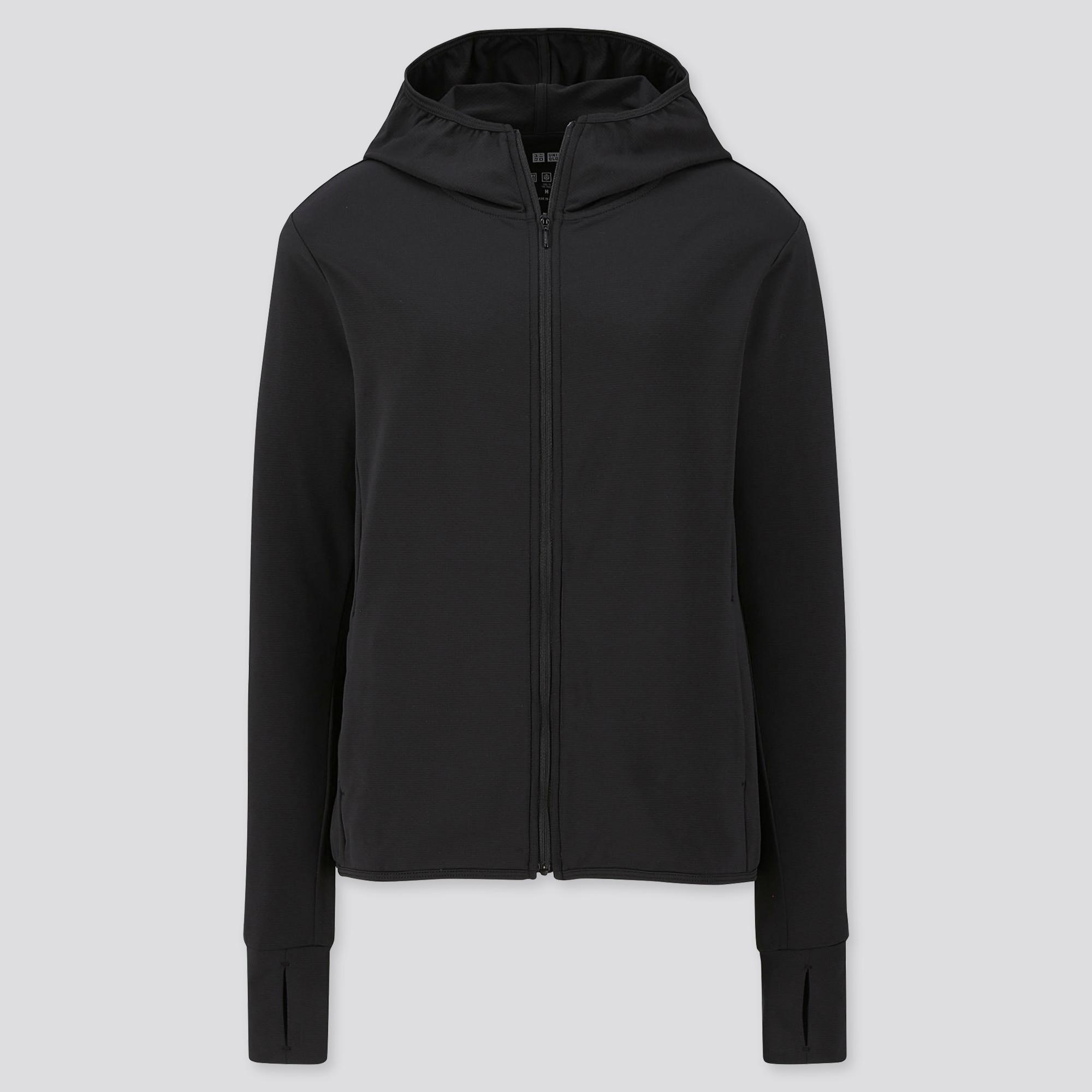 women AIRism UV Protection mesh long-sleeve full-zip hoodie