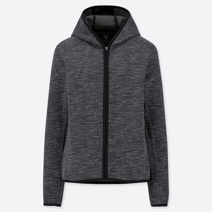 WOMEN DRY LONG SLEEVED ZIPPED HOODIE