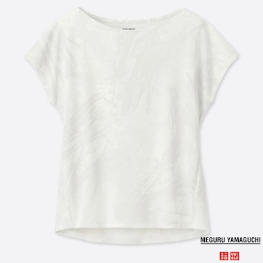 WOMEN DRY-EX PRINTED CREW NECK T-SHIRT