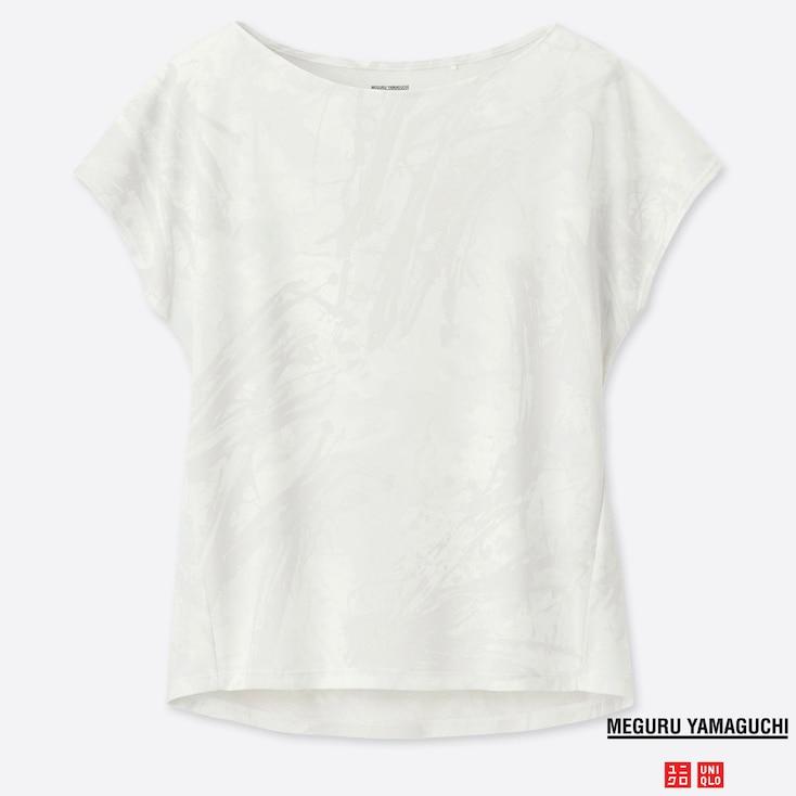 WOMEN DRY-EX PRINTED CREW NECK T-SHIRT