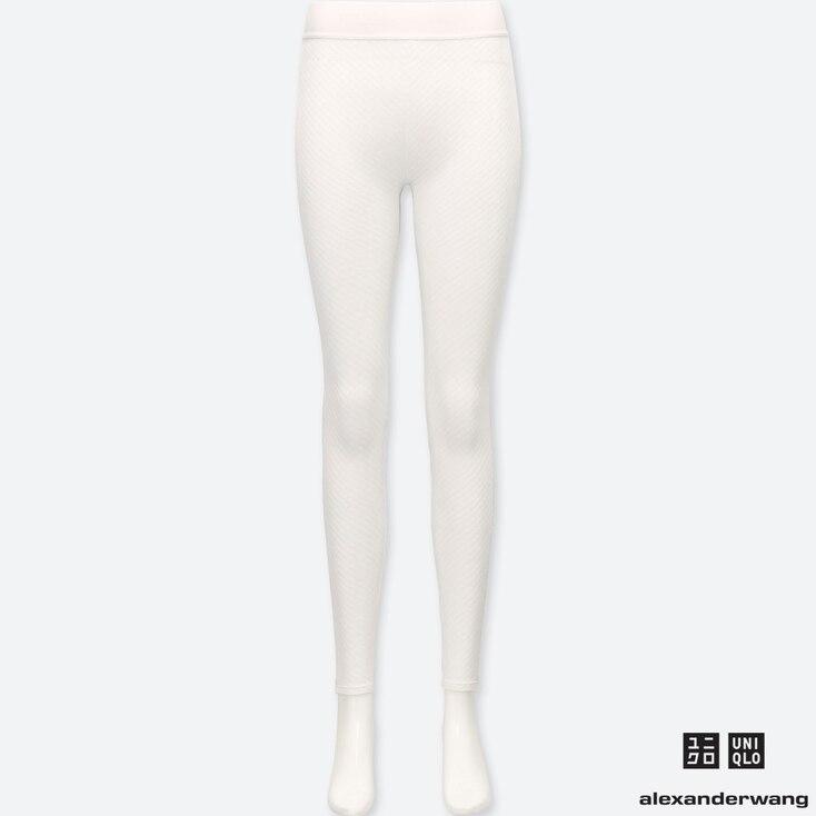 WOMEN HEATTECH EXTRA WARM LEGGINGS (ALEXANDER WANG), WHITE, large