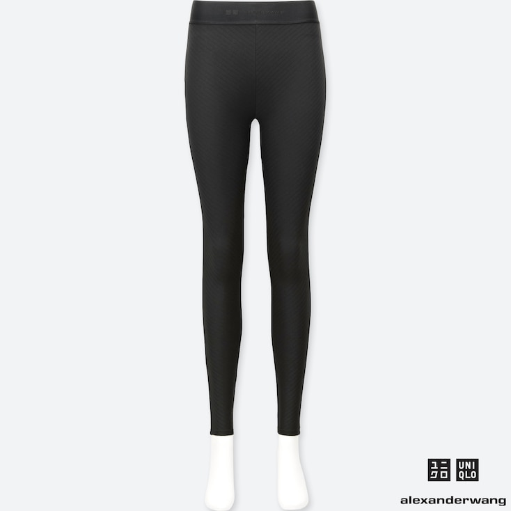 WOMEN HEATTECH EXTRA WARM LEGGINGS (ALEXANDER WANG), BLACK, large