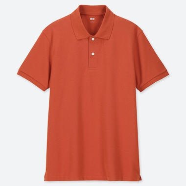 MEN DRY PIQUE SHORT-SLEEVE POLO SHIRT, ORANGE, medium