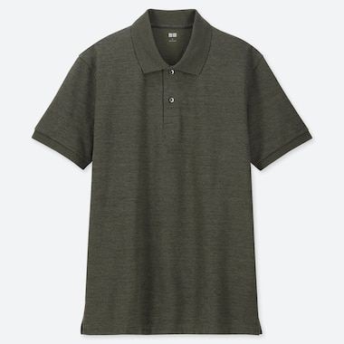 MEN DRY PIQUE SHORT-SLEEVE POLO SHIRT, DARK GREEN, medium
