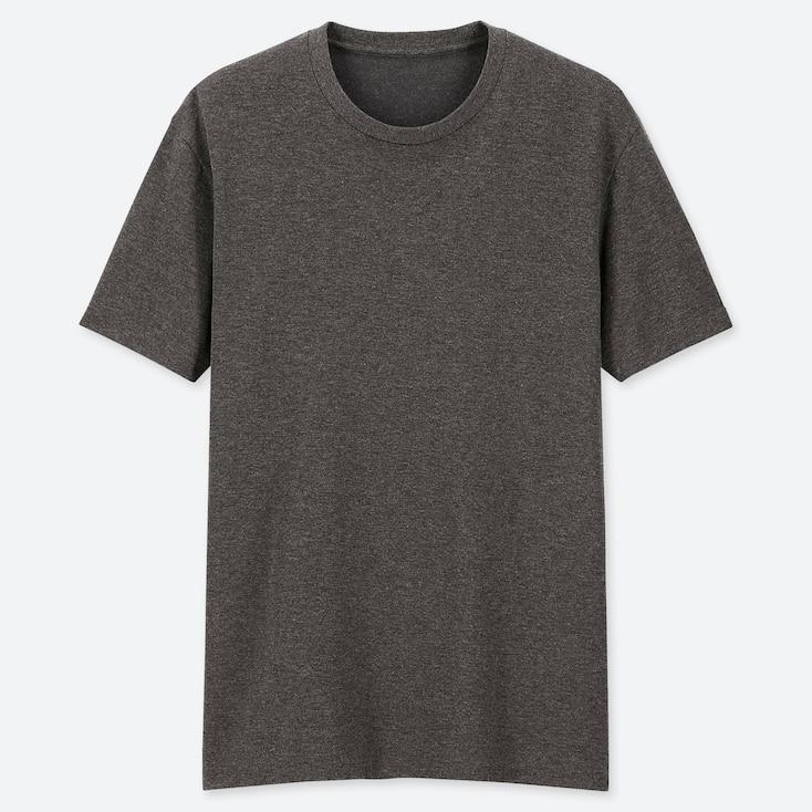 Men Packaged Dry Crew Neck Short-Sleeve T-Shirt, Dark Gray, Large