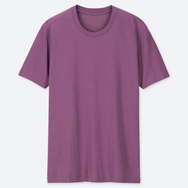 MEN PACKAGED DRY CREW NECK SHORT-SLEEVE T-SHIRT, PURPLE, medium