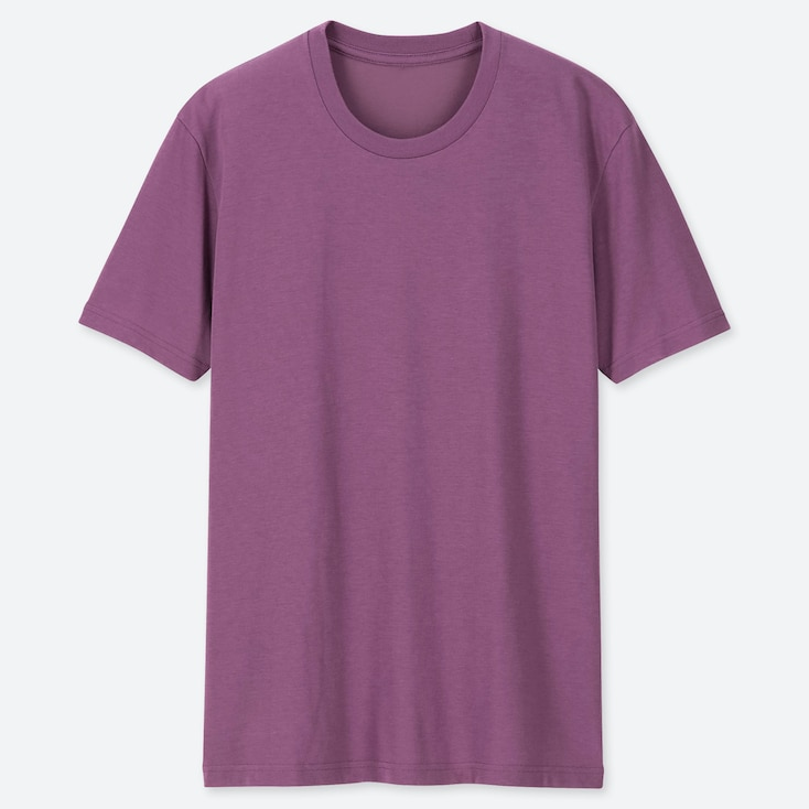 MEN PACKAGED DRY CREW NECK SHORT-SLEEVE T-SHIRT, PURPLE, large