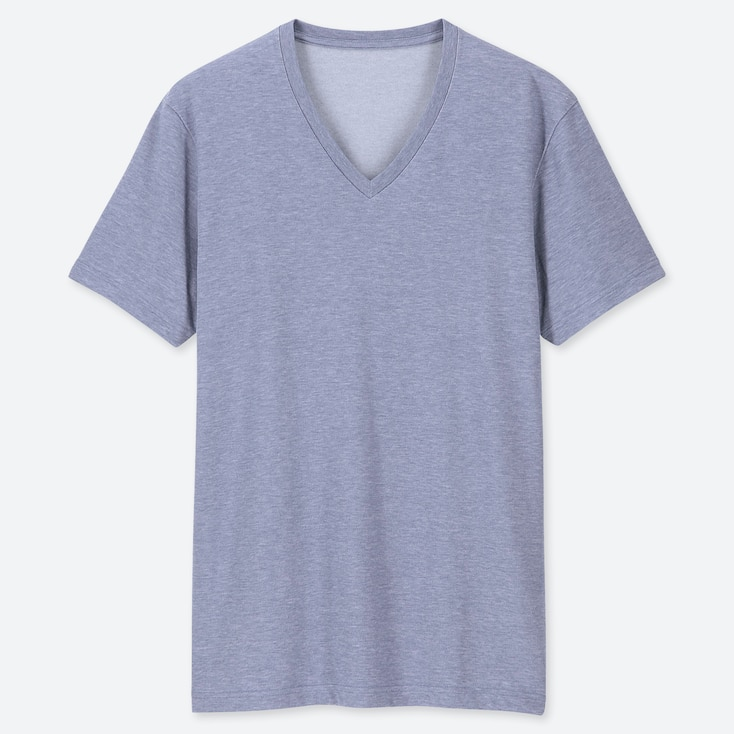 Men Packaged Dry V Neck Short Sleeve T Shirt Uniqlo Us