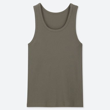 MEN DRY RIBBED CREW NECK VEST