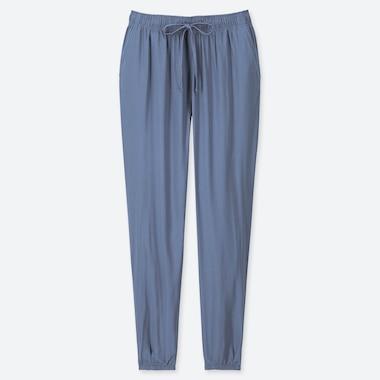 WOMEN DRAPE JOGGER PANTS, BLUE, medium