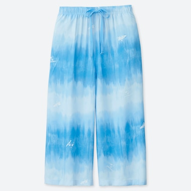 WOMEN MICKEY BLUE RELACO THREE QUARTER LENGTH TIE DYE SHORTS