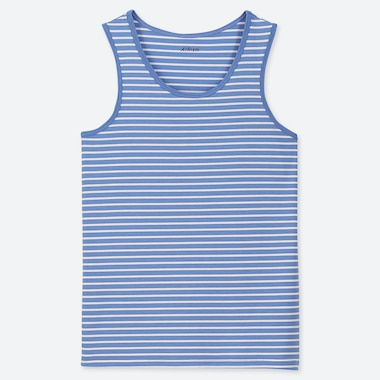 KIDS AIRism TANK TOP, BLUE, medium