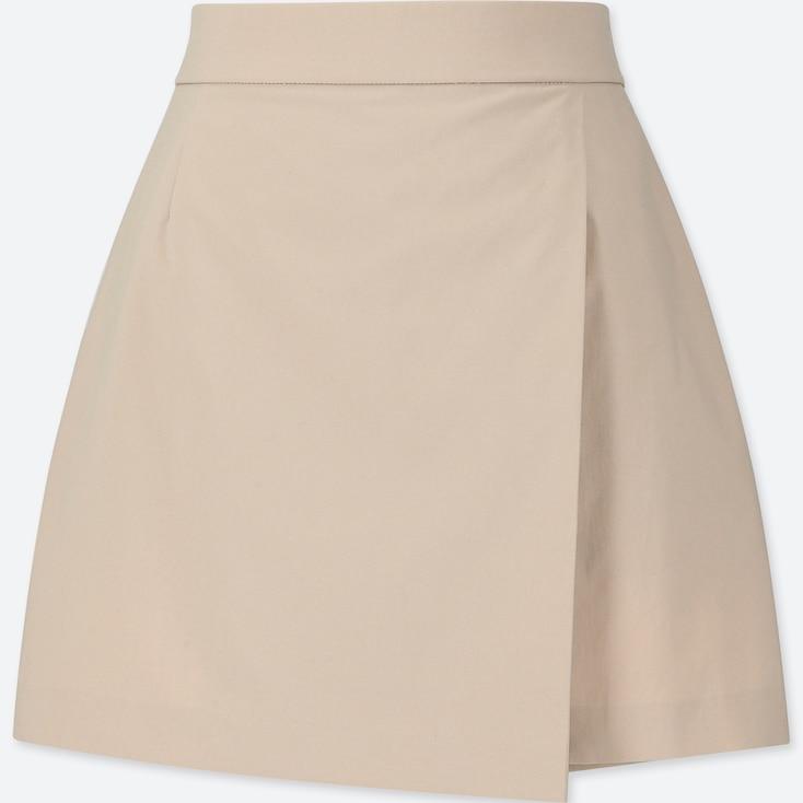 Women Wrap Shorts, Natural, Large