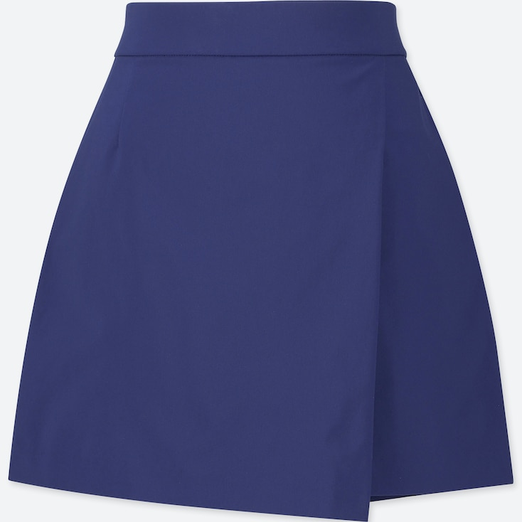 Women Wrap Shorts, Blue, Large