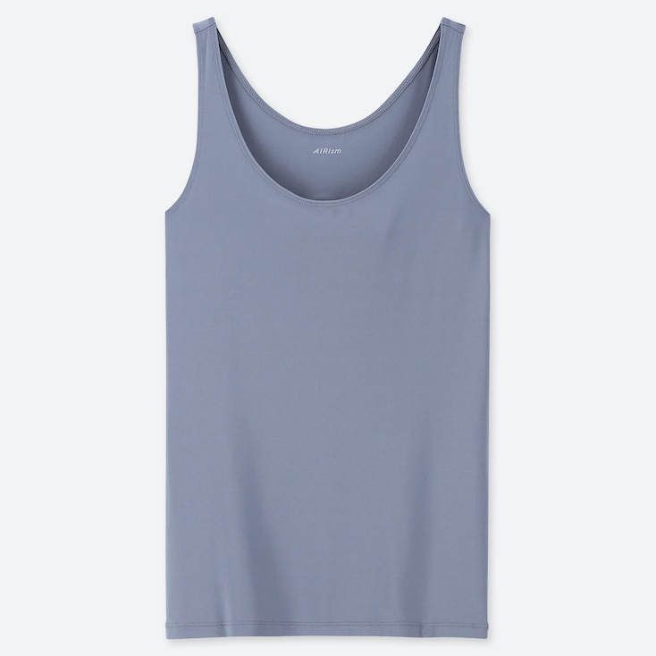 WOMEN AIRism SLEEVELESS TOP, BLUE, large