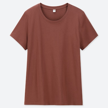 WOMEN 100% SUPIMA COTTON CREW NECK SHORT SLEEVED T-SHIRT