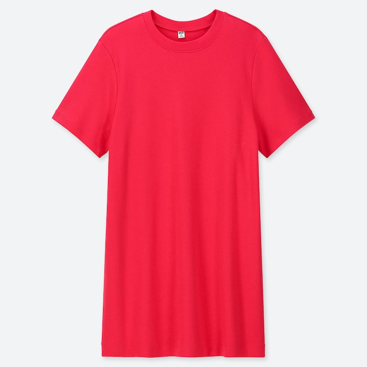 WOMEN BOYFRIEND SHORT-SLEEVE TUNIC (ONLINE EXCLUSIVE), RED, large
