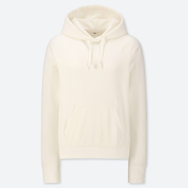 WOMEN LONG-SLEEVE HOODED SWEATSHIRT, OFF WHITE, medium