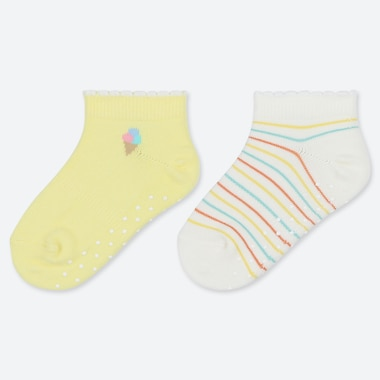 BABIES FRUIT PRINT ANKLE SOCKS (TWO PAIRS)