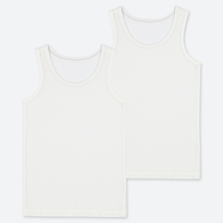 TODDLER AIRism MESH TANK TOP (SET OF 2), WHITE, large