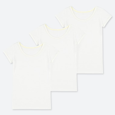 TODDLER COTTON MESH SHORT-SLEEVE T-SHIRT (SET OF 3), WHITE, medium