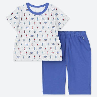 BABIES TODDLER DRY SURF PRINT SHORT SLEEVED PYJAMAS