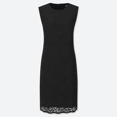 WOMEN LACE DRESS, BLACK, medium