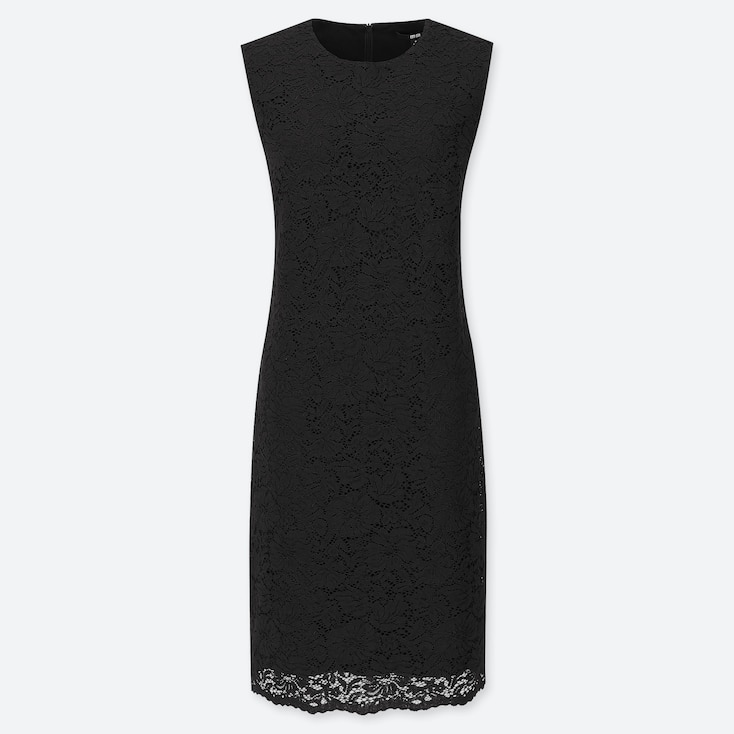 WOMEN LACE SLEEVELESS MIDI DRESS