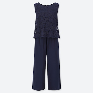 WOMEN LACE SLEEVELESS JUMPSUIT