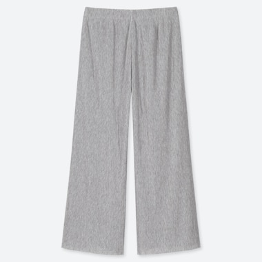 WOMEN PLEATED PANTS, GRAY, medium