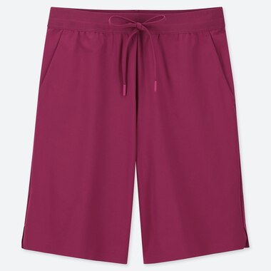 WOMEN ULTRA STRETCH ACTIVE KNEE-LENGTH SHORTS (ONLINE EXCLUSIVE), PINK, medium