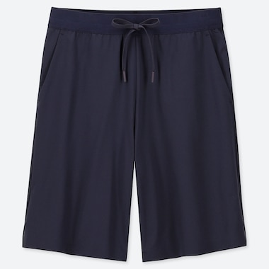 WOMEN ULTRA STRETCH ACTIVE KNEE-LENGTH SHORTS (ONLINE EXCLUSIVE), NAVY, medium