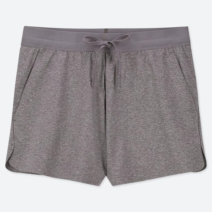 WOMEN ULTRA STRETCH ACTIVE SHORTS, DARK GRAY, large