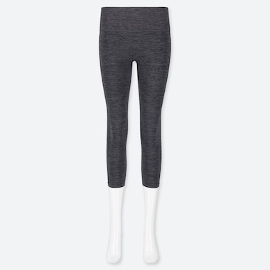 WOMEN AIRism SEAMLESS CROPPED LEGGINGS, DARK GRAY, medium