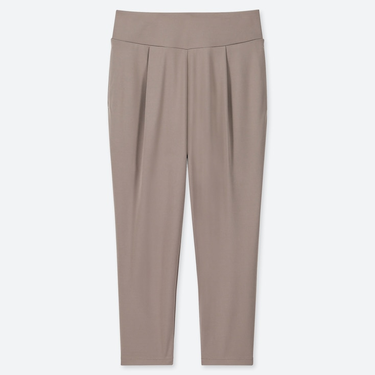 WOMEN AIRism YOGA TAPERED PANTS, GRAY, large