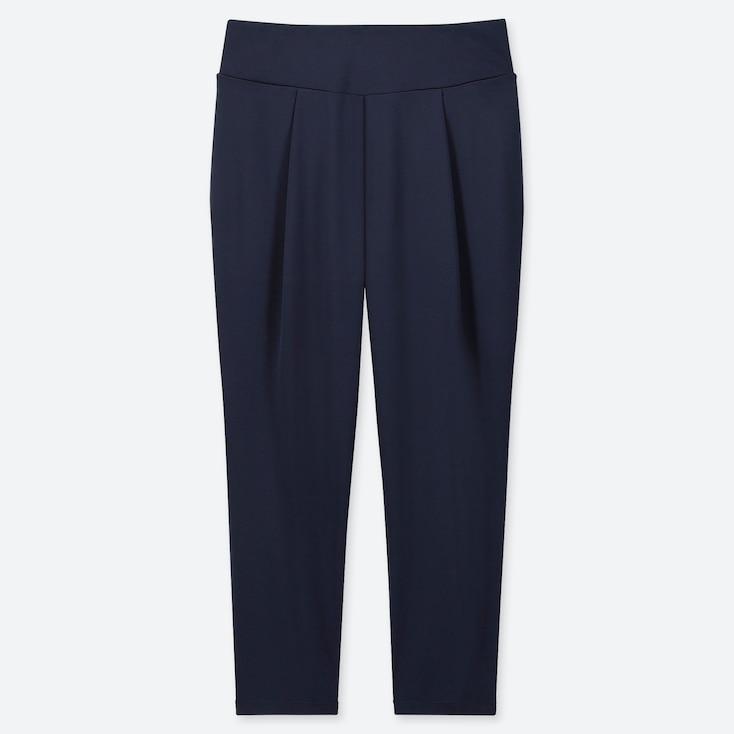 WOMEN AIRism YOGA TAPERED PANTS, NAVY, large