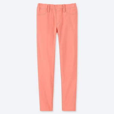 GIRLS ULTRA STRETCH SKINNY FIT PANTS, PINK, medium