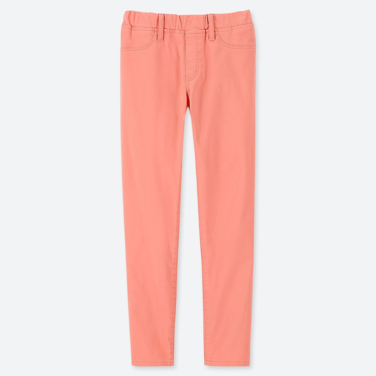 GIRLS ULTRA STRETCH SKINNY FIT PANTS, PINK, large
