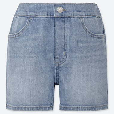 GIRLS DENIM EASY SHORTS, BLUE, medium