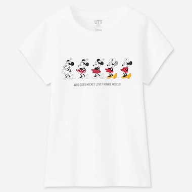 GIRLS CELEBRATE MICKEY UT (SHORT-SLEEVE GRAPHIC T-SHIRT), WHITE, medium