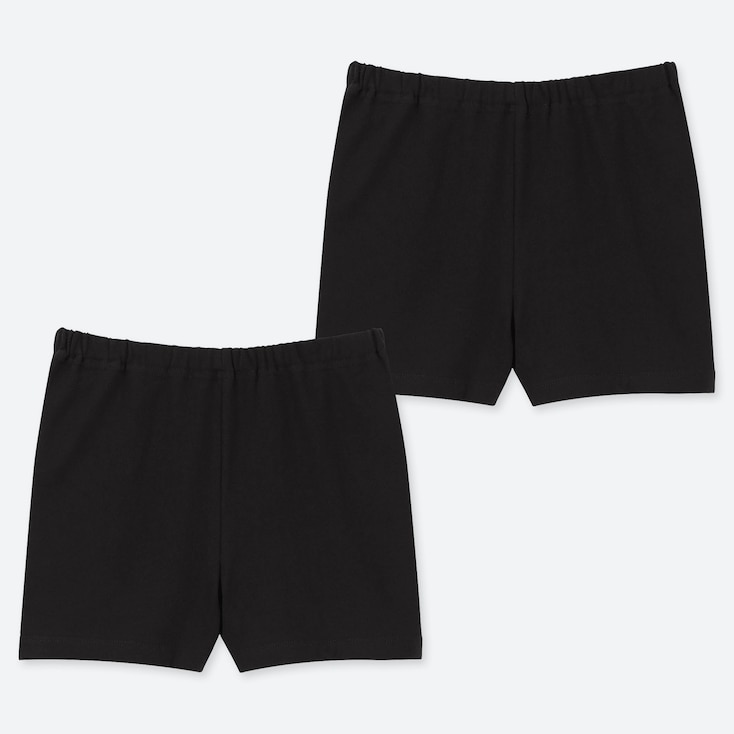 GIRLS UNDERSHORTS (SET OF 2), BLACK, large