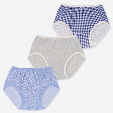 GIRLS PATTERNED BRIEFS (THREE PACK)